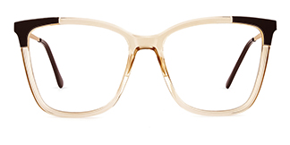 R87050 Ardice Rectangle brown glasses