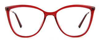 R87073 Ardith Cateye red glasses