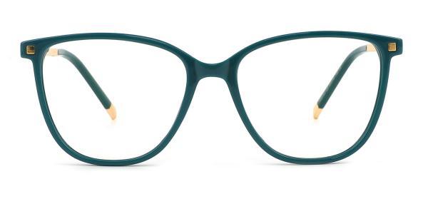 R92151 Delilah Rectangle green glasses