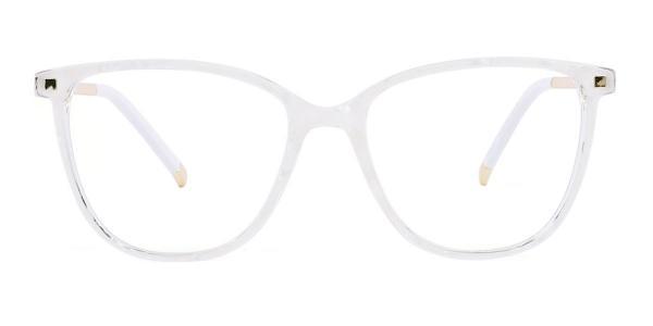 R92151 Delilah Rectangle white glasses