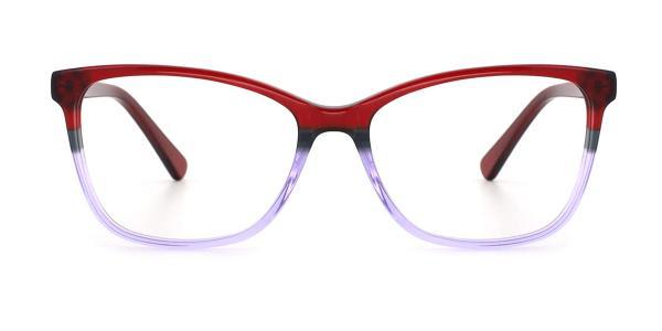 RD155 Katlyn Cateye red glasses
