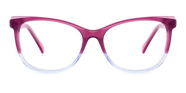 RD3138 Misty Rectangle pink glasses