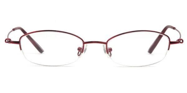 RE728 Naomi Oval red glasses