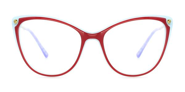 RT-3007 Panda Cateye red glasses