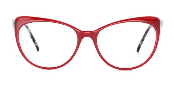 RT-3011 Doris Cateye red glasses