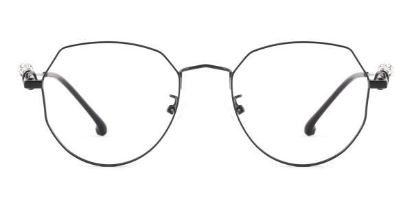 S11265 Aliya Geometric black glasses