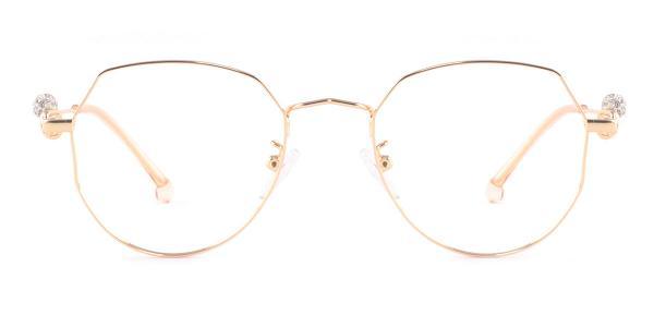 S11265 Aliya Geometric gold glasses