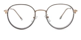 S11366 Antonia Round grey glasses