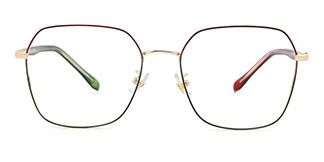 S11601 Marah Geometric red glasses