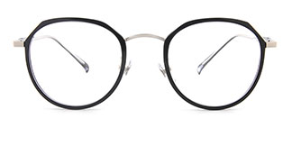 S11689 Clement Geometric silver glasses