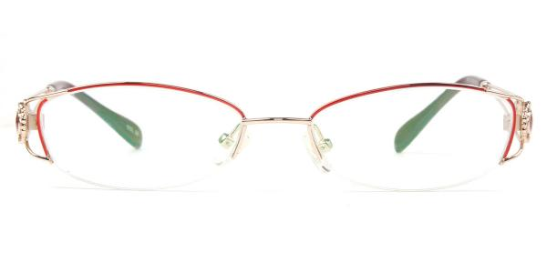 S5015 Pansy Oval red glasses