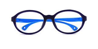 S600 Bunny Oval purple glasses