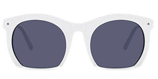 S6204 Fisher Rectangle,Oval white glasses