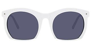 S6204 Fisher Oval white glasses