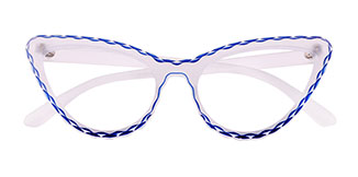 S8073 Betty Cateye blue glasses