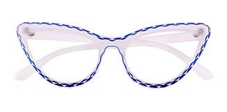 S8073 Betty Cateye red glasses