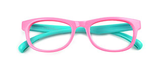 S8145 Bubles Rectangle pink glasses