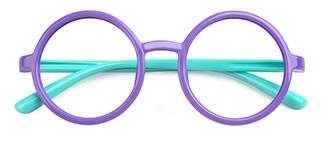 S8232 Anya Round purple glasses