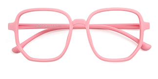 S8286 Anwar Geometric pink glasses