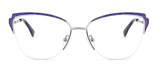 T3512 elaineelaine Cateye blue glasses