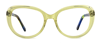 WD15 Annemarie Cateye yellow glasses