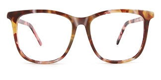 WD23 Iris Rectangle tortoiseshell glasses