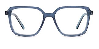 WD57 Annett Rectangle blue glasses