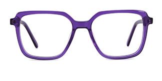 WD57 Annett Rectangle purple glasses