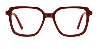 WD57 Annett Rectangle red glasses