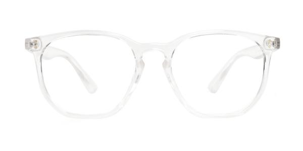 WK0566 Pam Rectangle clear glasses