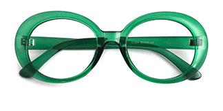 X1304 Kelley Oval green glasses