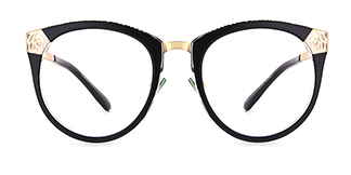 X6805 Karen Cateye black glasses