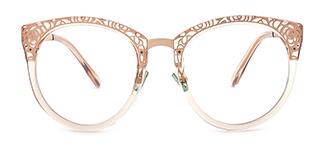 X6850 Janet Cateye brown glasses