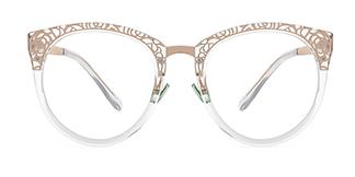 X6850 Janet Cateye clear glasses