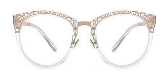 X6850 Janet Cateye green glasses