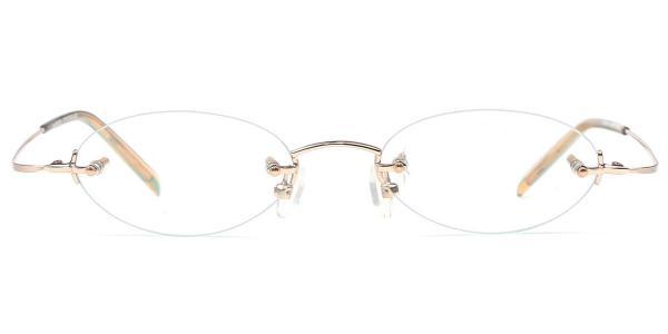 X7028 Nenote Oval gold glasses