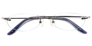 X7100 Aeolus Rectangle,Oval silver glasses