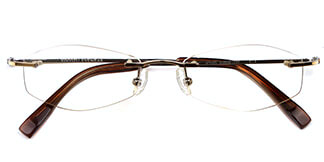 X7102 Arrow Rectangle,Oval gold glasses