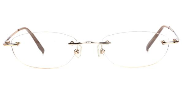 X7112 DENIS Oval brown glasses