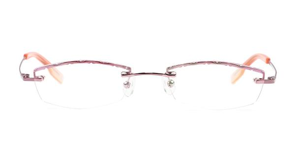 X7301 JOEY Rectangle pink glasses