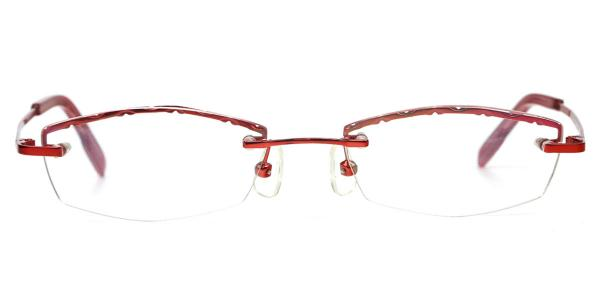 X7301_1 SUNLINE Rectangle,Oval red glasses