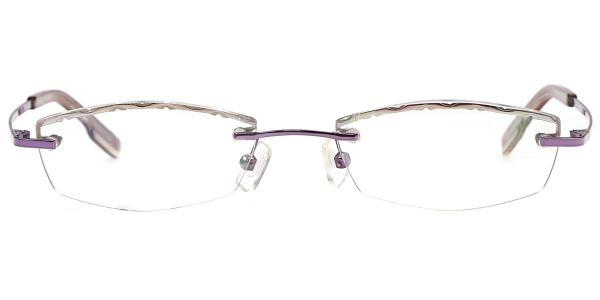 X7301_1 SUNLINE Rectangle,Oval purple glasses