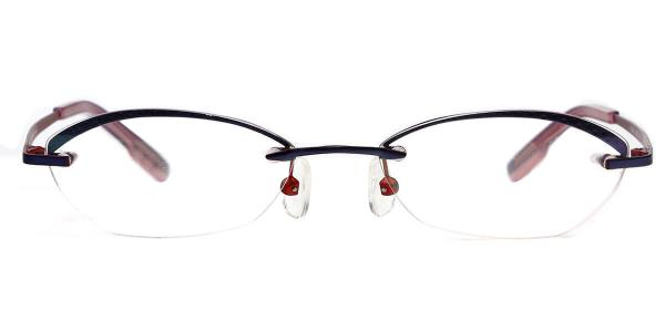 X7302-1 Dahlia Oval blue glasses