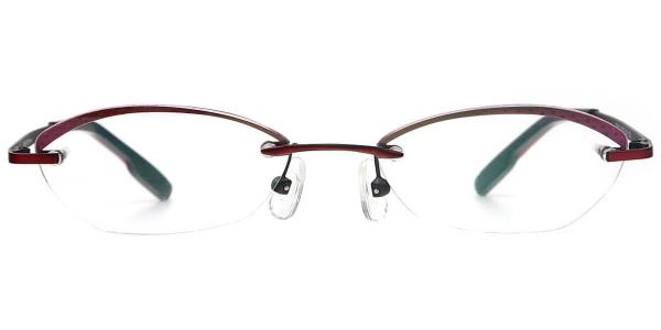 X7302 MYRA Oval red glasses
