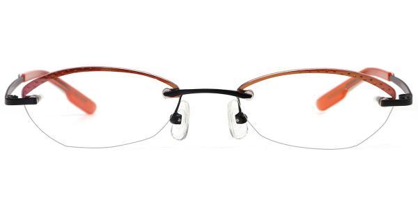 X7302 MYRA Oval orange glasses