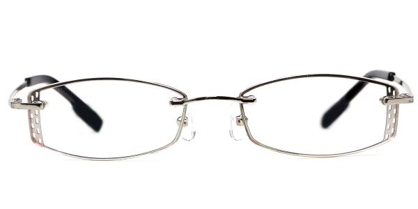 X7305 Latonia Rectangle silver glasses