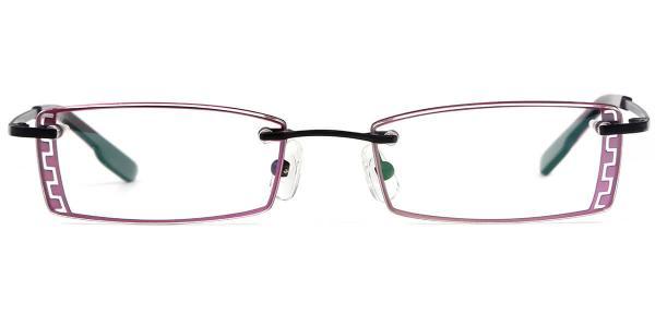 X7307 IVORY Rectangle black glasses
