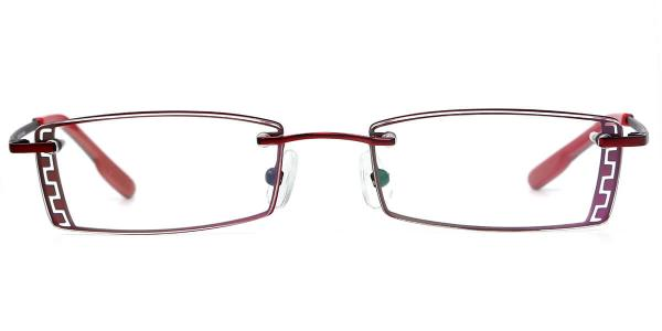 X7307 IVORY Rectangle red glasses