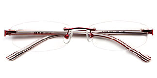 X7318 Leila Rectangle red glasses