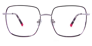 Y0064 vivianus Rectangle purple glasses